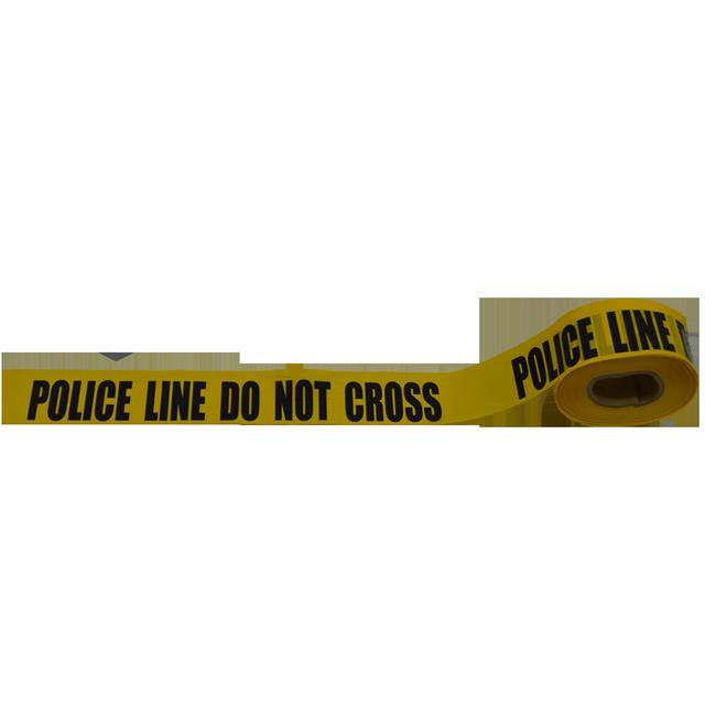 Petra Roc BT-POLICE Barricade Tape 2 Mil Printing Police Line Do Not Cross, Yellow & Black - 3 in. x 1000 ft. - image 1 of 1