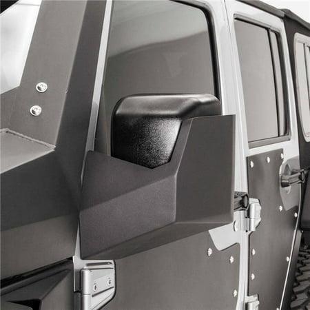 Front Door Skin Mirror Protectors, Matte Black for 2007-2016 Jeep