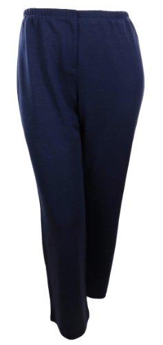 Sutton Studio Womens Zipper Front Ponte Trouser Pants Plus