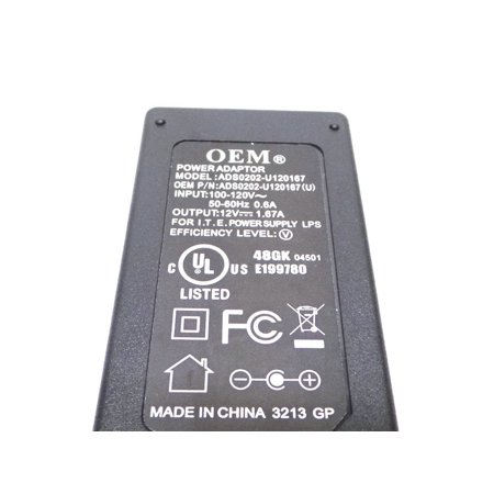 Cisco At Uverse 20W Cable Box Adapter With Power Cord Compatible Part Numbers  1010536 2103 30202022R Ads0202 U120167  World Wide Input Voltage 100 240Vac    By Att