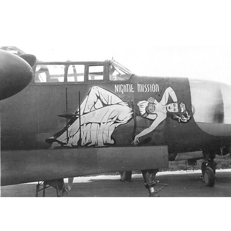 LAMINATED POSTER Northrup P-61A 42-5526 Nightie Mission 6th Night Fighter Squadron. Poster Print 24 x - Halloween Art Ideas 6th Class
