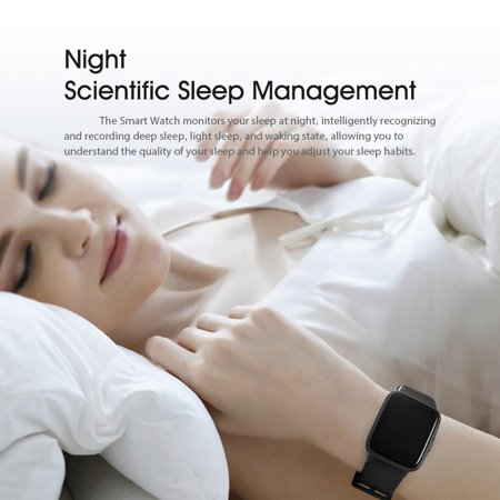 Lenovo S2 Smart Watch 1.4inch Heart Rate Sleep Monitor Calorie Pedometer Fitness Tracker Band - image 4 of 5