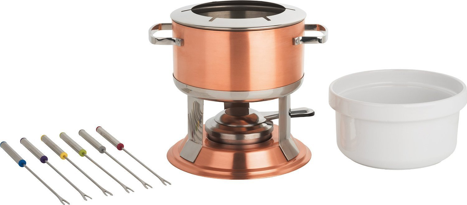 Lumina 3-in-1 Fondue Set, 67 oz, Copper By Trudeau Ship from US by