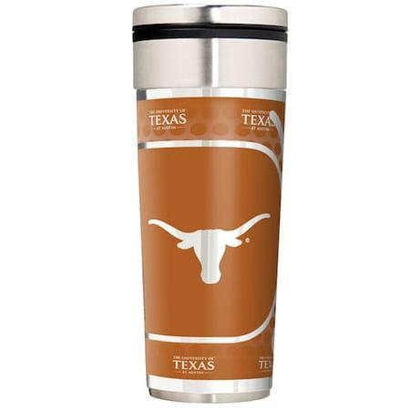 Texas Longhorns NCAA 16oz Travel Tumbler with Metallic (Ncaa Texas Longhorns Mugs)