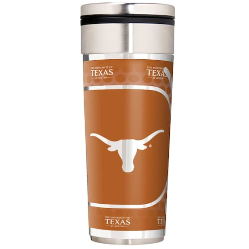Texas Longhorns NCAA 16oz Travel Tumbler with Metallic Wrap