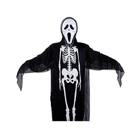 Scream Skeleton and Deluxe Mask Halloween Costume for Adult Men (Scream Mask For Sale)