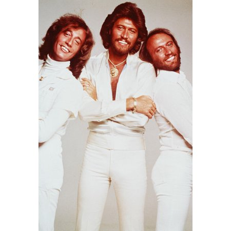 Saturday Night Fever White Suit (The Bee Gees Robin Maurice Barry Gibb White Suits Saturday Night Fever 24x36)