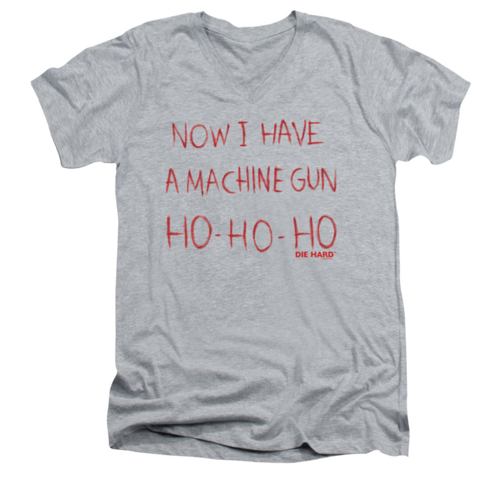 Die Hard Men's  Machine Gun Slim Fit T-shirt Clear