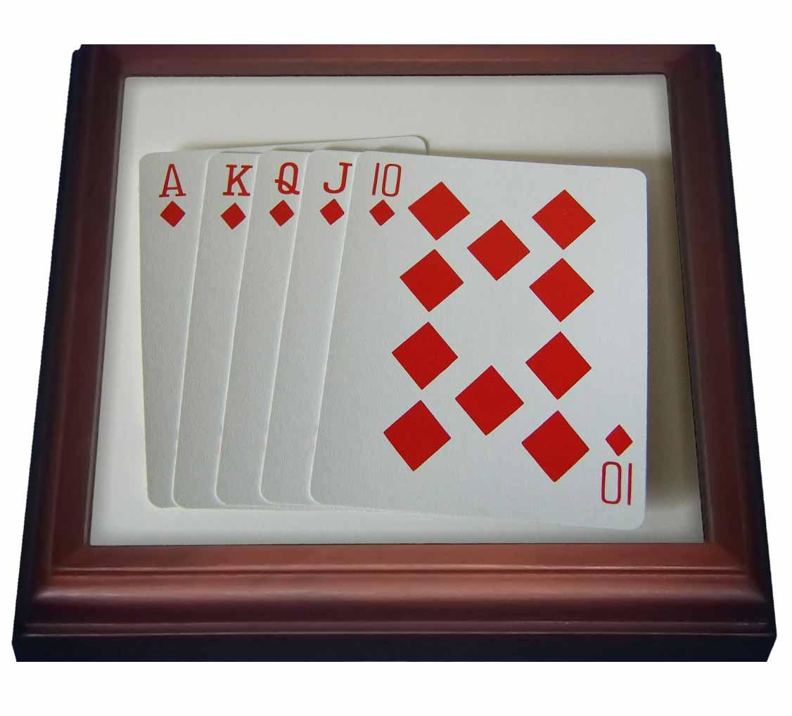 3dRose Poker Hand, Trivet with Ceramic Tile, 8 by 8-inch