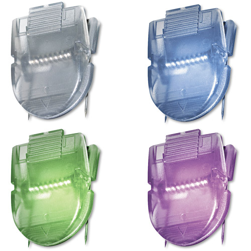 Advantus Fabric Panel Wall Clips, Standard Size, Assorted Metallic Colors, 20/Pack