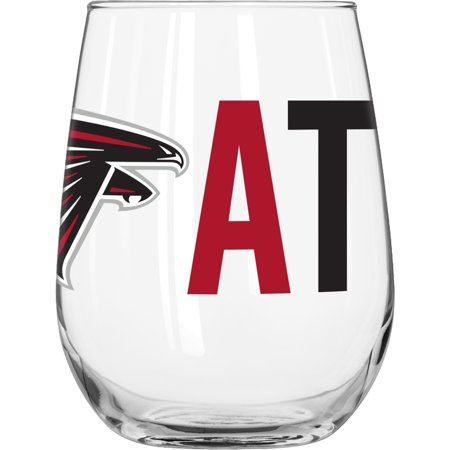 NFL Atlanta Falcons 16 oz. Overtime Curved Beverage Glass Atlanta Falcons 16 Oz Crystal