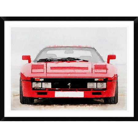 - Naxart '1980 Ferrari 288 GTO Front ' Framed Watercolor Painting Print