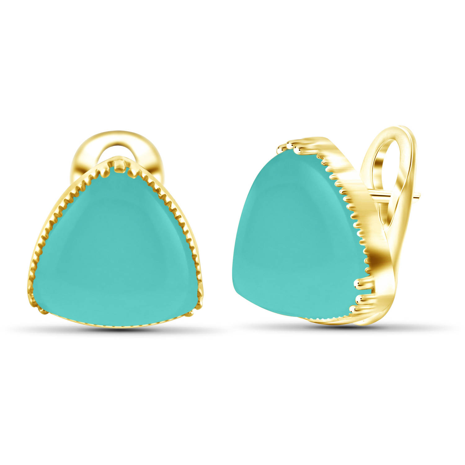 JewelersClub 17-1 2 Carat T.G.W. Chalcedony 14kt Gold over Silver Stud Earrings by JewelersClub