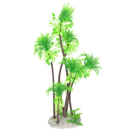 Unique Bargains Green Perforated Base Artificial Water Plant Grass Tree 11