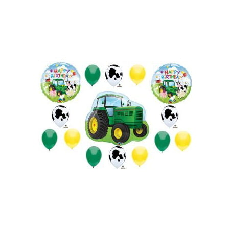 Tractor Birthday Party Balloons Decorations Farm Animal Cow John Deere Shower (MULTI, 1) by Anagram (John Deer Birthday)