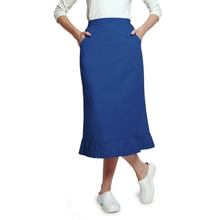 (Universal Basics by Adar Women's Pleated Flounce Hem Scrub Skirt)