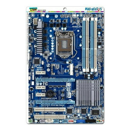 Graphics and More Blue Computer Motherboard Processor Cpu Memory Mag-Neato's Novelty Gift Locker Refrigerator Vinyl Puzzle Magnet