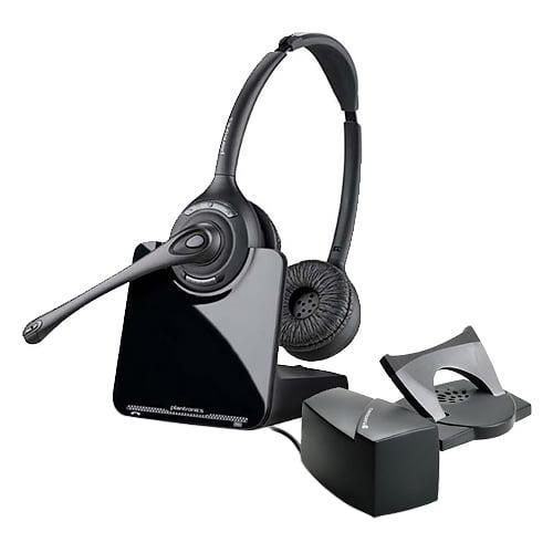 Plantronics CS520 Stereo Wireless Headset w  HL-10 Remote Handset Lifter by PLANTRONICS