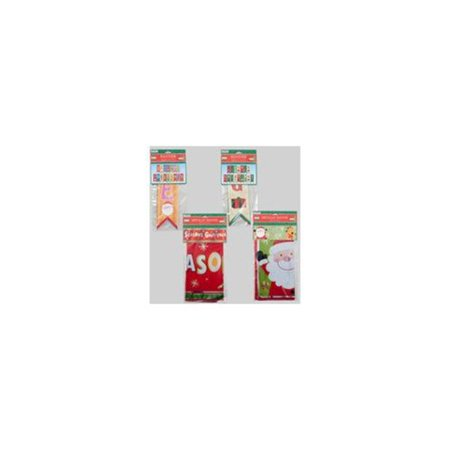 Ddi Christmas Banner Single 3 ft. Foil or 2 pack 8 ft.