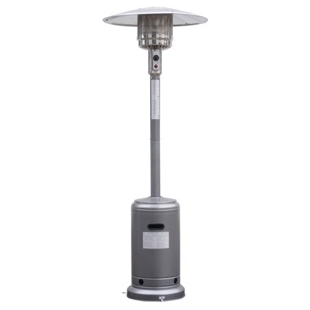 Costway Steel Outdoor Patio Heater Propane Lp Gas W/accessories (Silvery - Gas Freestanding Portable Patio Heater
