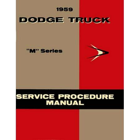 Bishko OEM Repair Maintenance Shop Manual Bound for Dodge Truck All Models - M Series - Supp To 1958 1959 ()