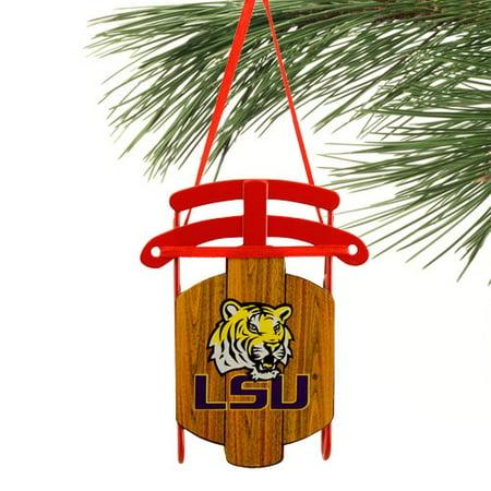 - LSU Tigers Sled Ornament - No Size