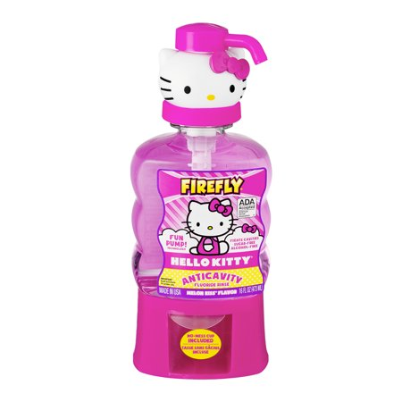 Firefly Hello Kitty Anticavity Fluoride Rinse Melon Kiss Flavor, 16.0 FL OZ for $<!---->