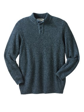 Kingsize Men's Big & Tall Henley Shaker Sweater