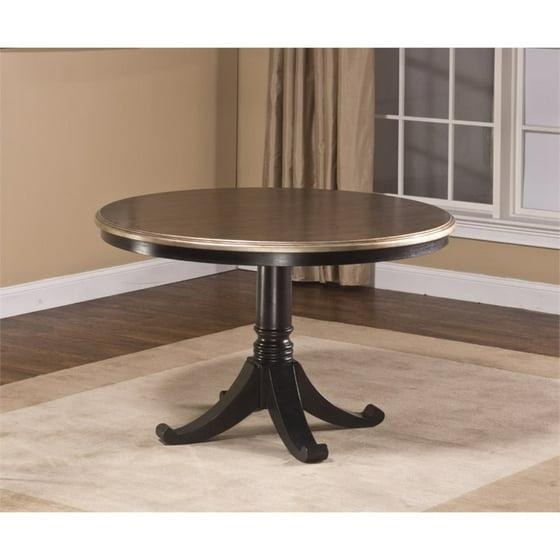 Kingfisher Lane Round Pedestal Dining Table in Black