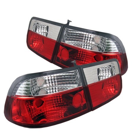 - Spyder Honda Civic 96-00 2Dr Crystal Tail Lights - Red Clear