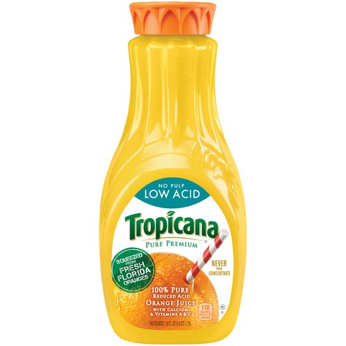 Tropicana Pure Premium Orange Juice with Low Acid and No Pulp, 59 fl oz