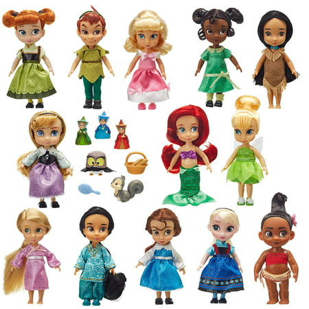 Disney Store Animators' Collection Mini Doll Gift Set 5'' Ariel Belle Peter - Gift Disney