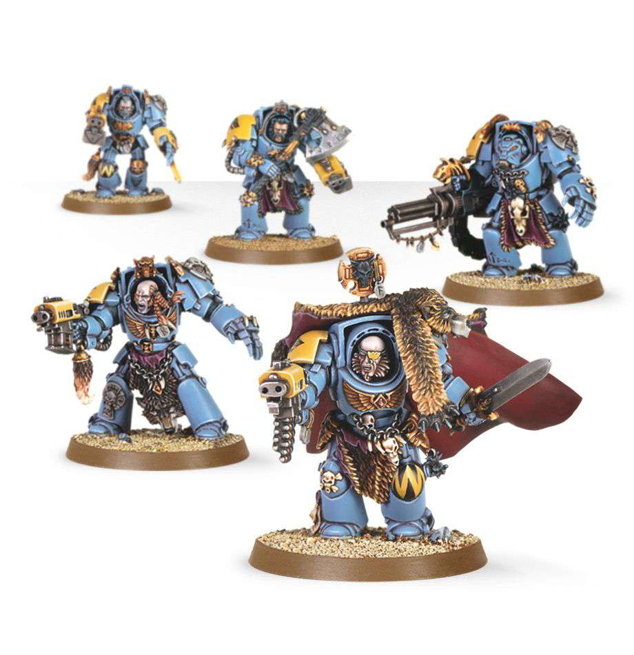 Warhammer 40,000 Space Wolves Wolf Guard Terminators Miniatures by