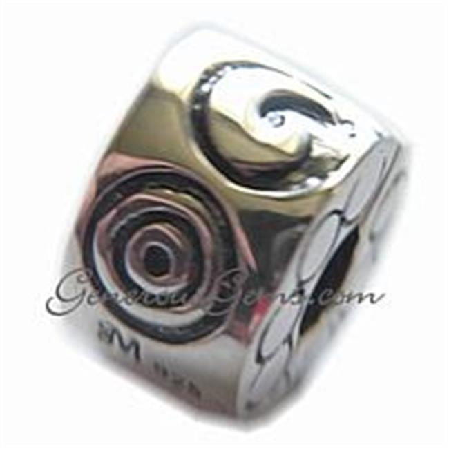 Marketplace 151093 Spirals Sterling Silver Clip - Stopper Moress CLM-04