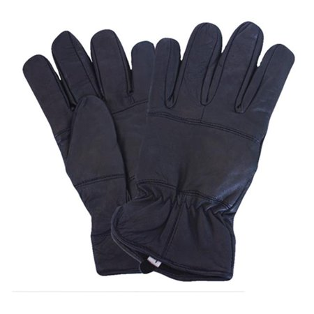Police Leather Gloves - Fox Outdoor 79-84 M All Leather Police Glove With Fleece Liner, Black - Medium