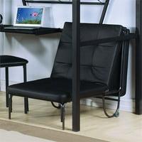 ACME Furniture Senon Adjustable Futon Chair, Silver and Black