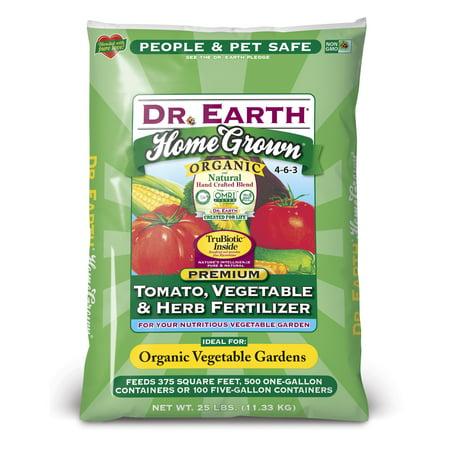 Dr. Earth Organic & Natural Home Grown Tomato, Vegetable & Herb Fertilizer 25 lb (Dr Earth Fertilizer)