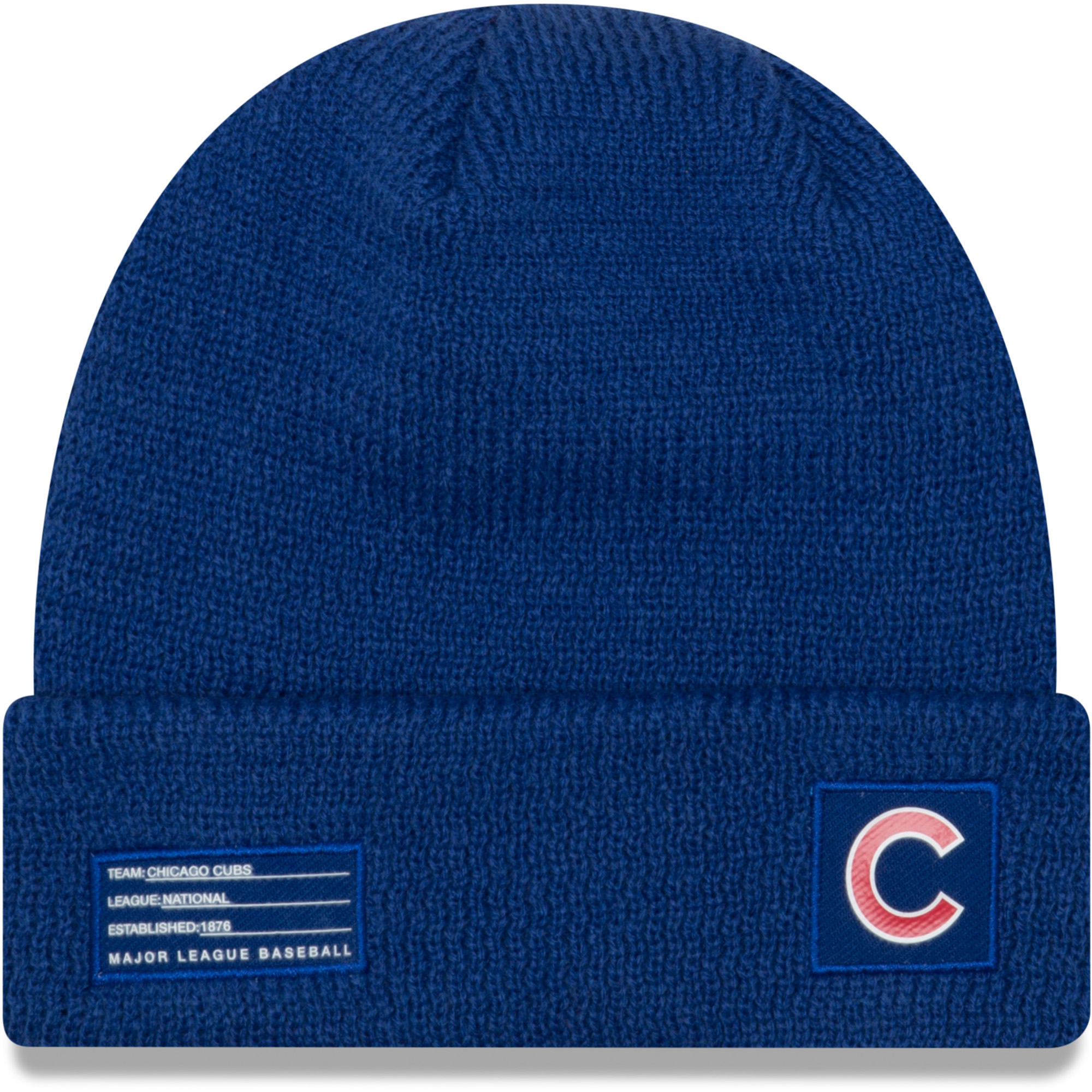 Chicago Cubs New Era Youth On-Field Sport Cuffed Knit Hat - Royal - OSFA