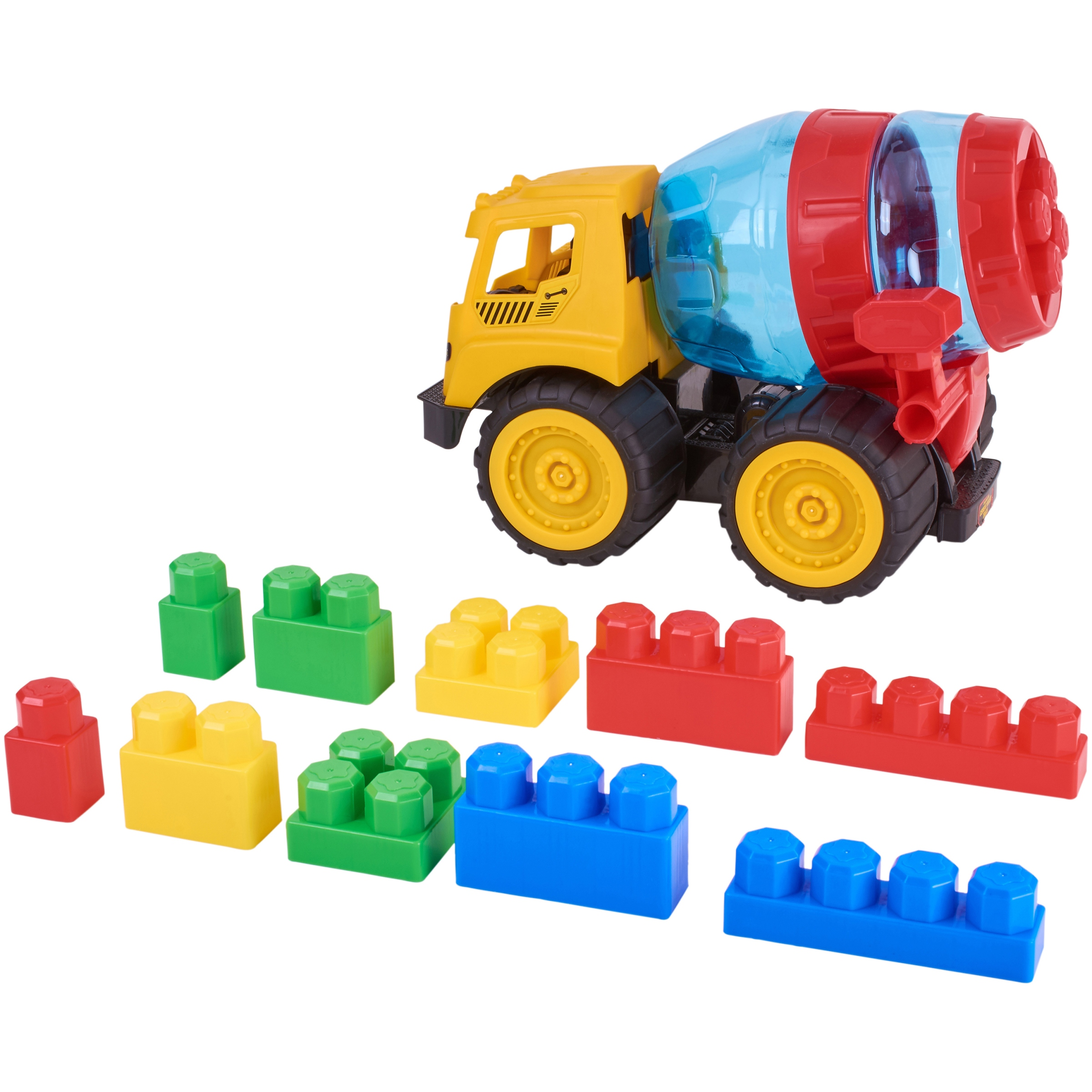 Kid Connection 11-Piece Construction Truck and Blocks Set
