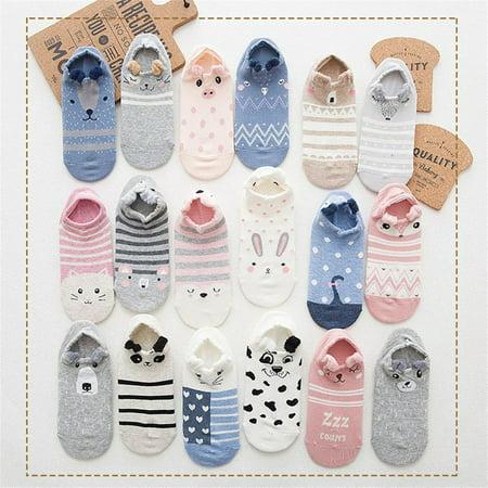 Breathable Kawaii Cartoon Women Comfortable Cotton Socks Short Ankle Socks - image 3 of 6