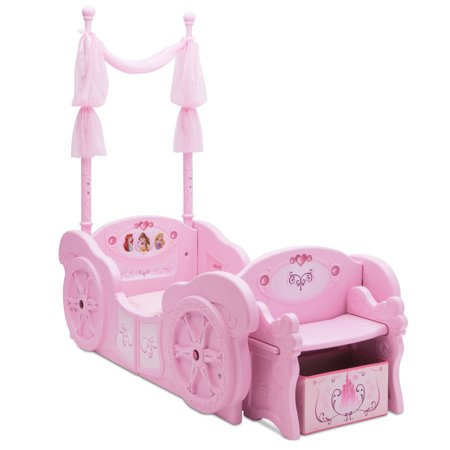 Disney Princess Carriage Convertible Toddler to Twin Bed, Pink for $<!---->