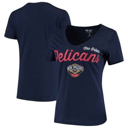 New Orleans Pelicans G-III 4Her by Carl Banks Women's Post Season V-Neck Short Sleeve T-Shirt - Navy