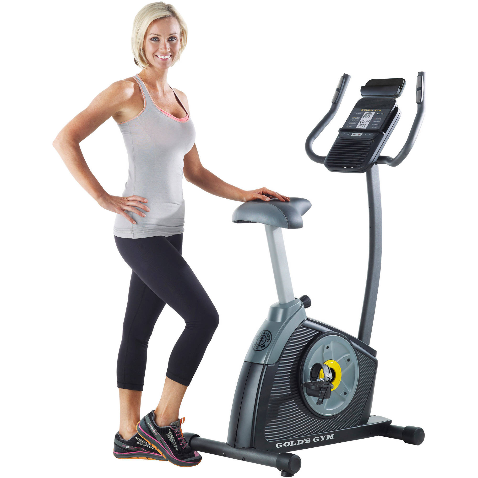 f4139b770e4 Goplus Purple Upright Exercise Bike - Walmart.com