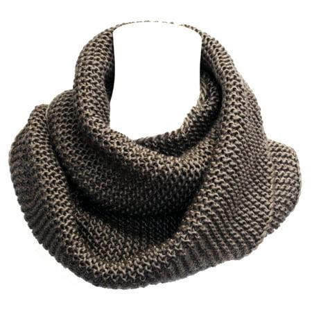 Braided Scarf (Faddism Fashion Braid Knit Infinity Scarf in Brown)