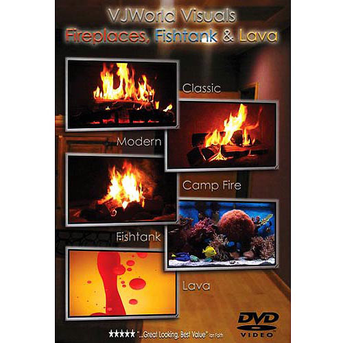 VJWorld Visuals: Fireplaces, Fishtank & Lava (Full Frame)