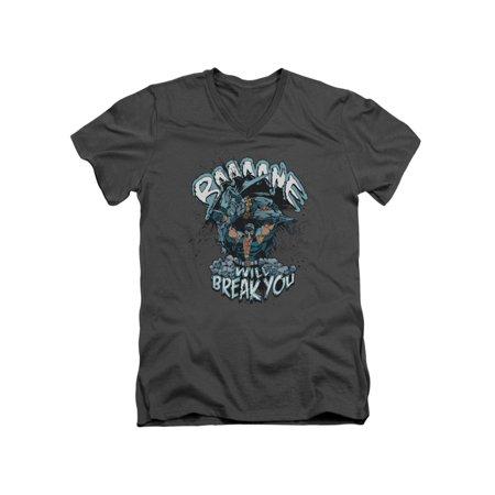 Batman DC Comics Bane Will Break You Adult V-Neck T-Shirt Tee (Bane 90s Batman)