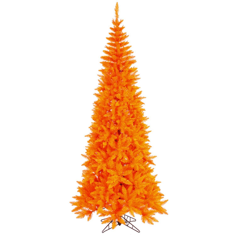 9' Medium Orange Fir Artificial Christmas Tree - Unlit