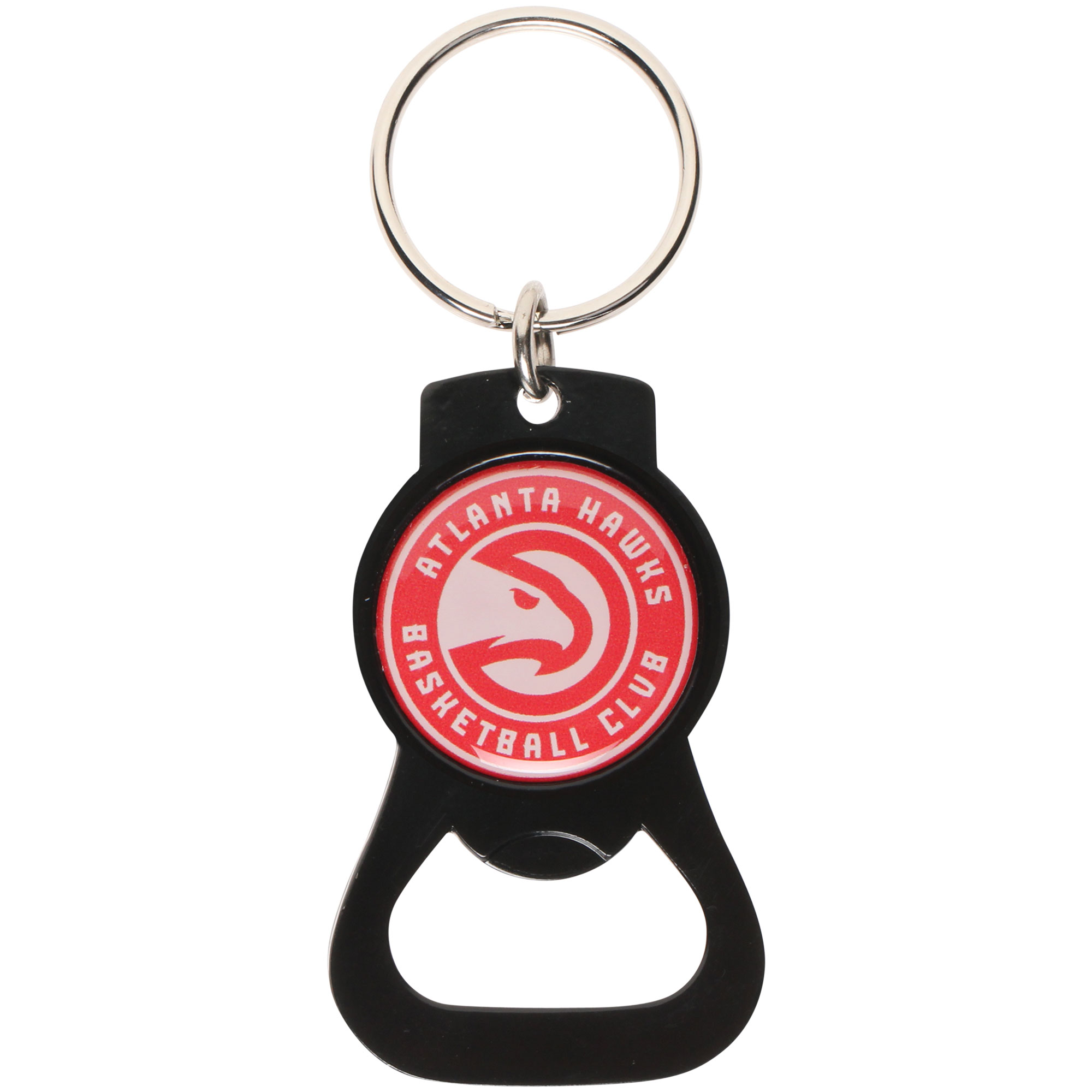 Atlanta Hawks Bottle Opener Keychain - Black - No Size
