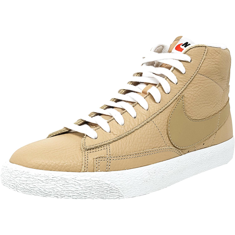 Nike Men's Blazer Mid Linen / Summit White High-Top Leath...
