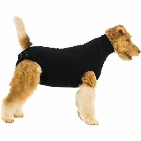 Suitical Recovery Suit for Dogs Black  - Dog In A Banana Suit